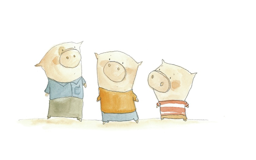 The Three Little Pigs - 3 Little Pigs Sing Polly Wolly Doodle And Alouette