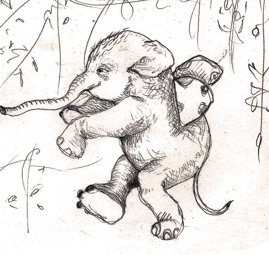 - drawing, elephant, fly, flying, maagical