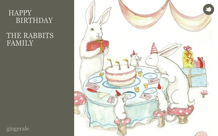HAPPY  BIRTHDAY  THE RABBITS FAMILY