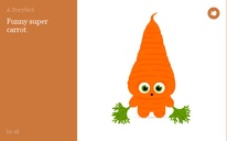Funny super carrot.