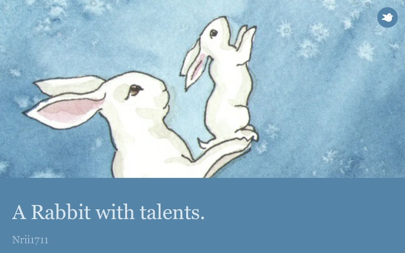 A Rabbit with talents.