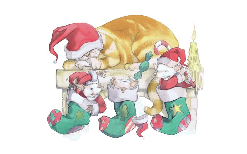 Cheeky christmas mice