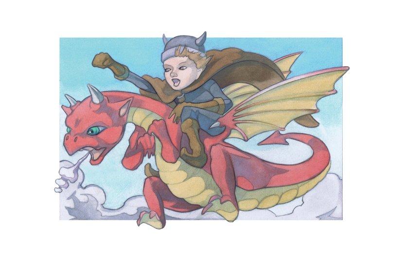 - adventure, boy, clouds, dragon, fantasy, flying, sky
