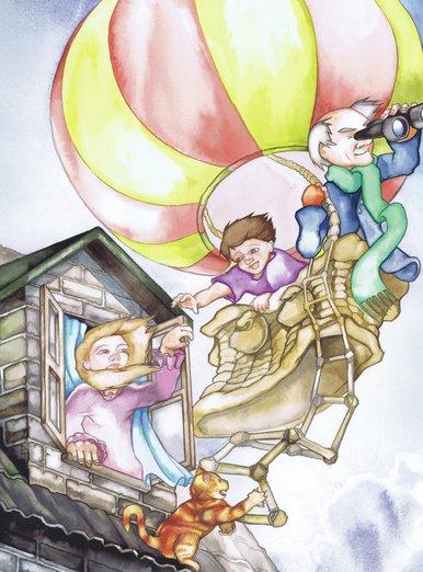 - adventure, air, balloon, boy, cat, colorful, colourful