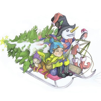 A ride with the snowman