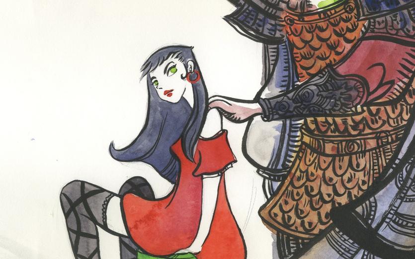 - adorable, armour, brown, cartoon, cartoony, colored, colorful