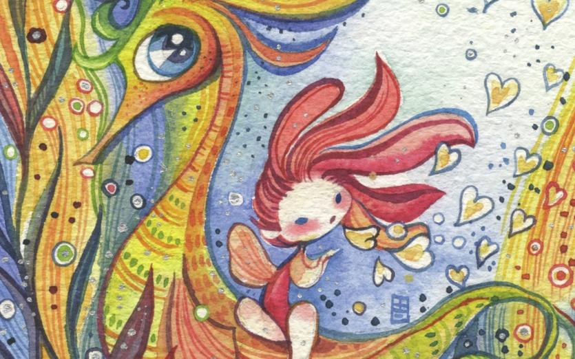 - blue, bubbles, colored, colorful, colors, creature, girl