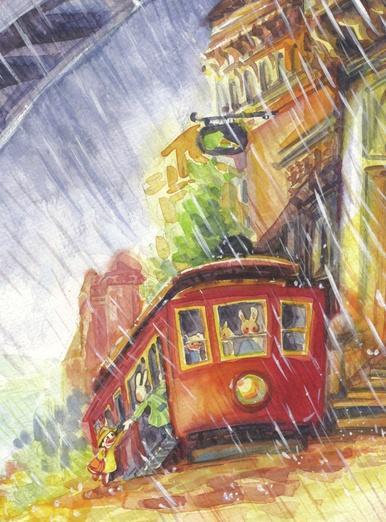 Rain cablecar