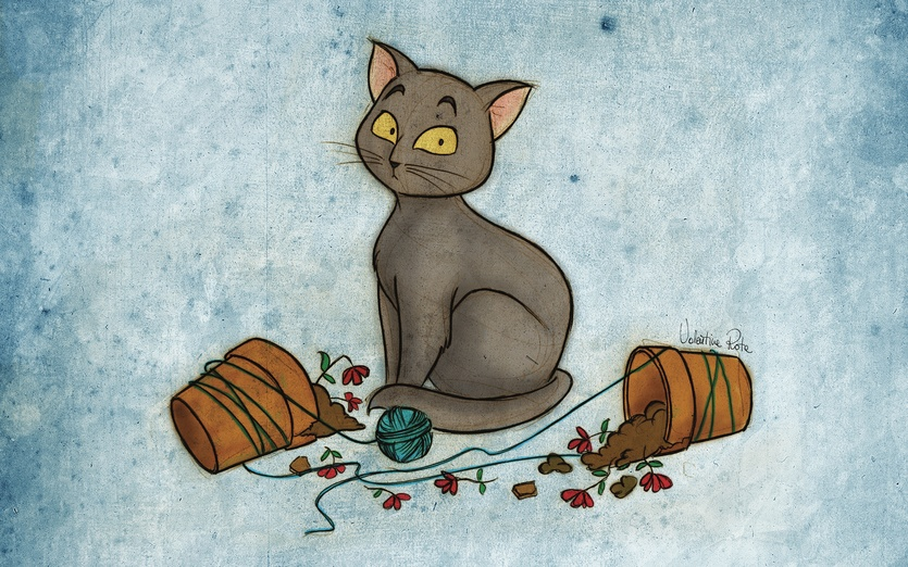 Black Cat With Broken Vases By Valentina Rota On Storybird