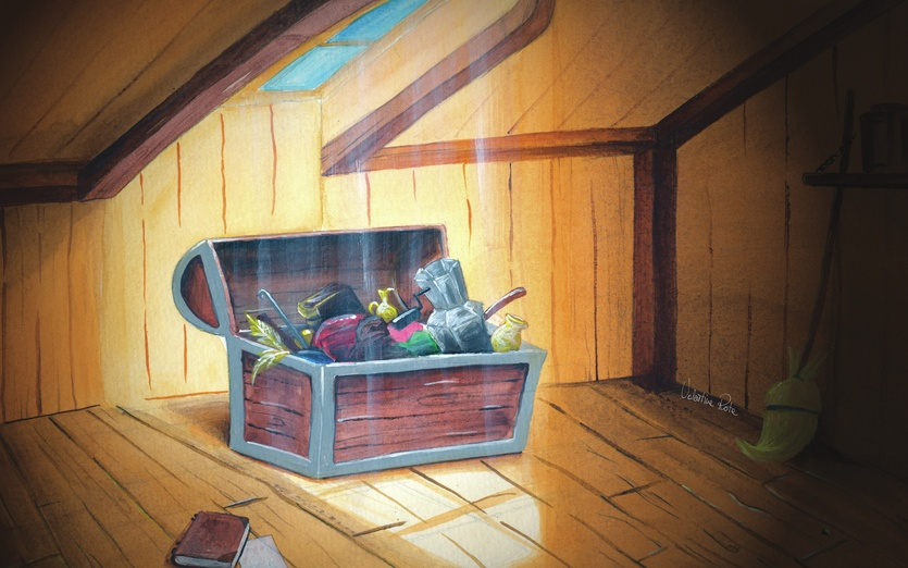 Trunk In The Attic By Valentina Rota On Storybird