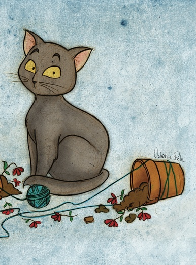 Black Cat With Broken Vases By Valentina Rota On Storybird
