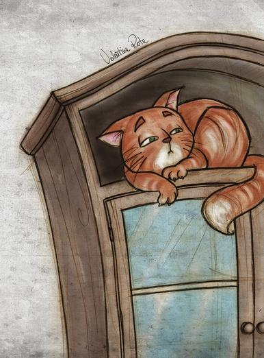 Slightly suspicious red cat