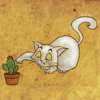 Cat with cactus