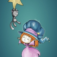 Little witch and her friend