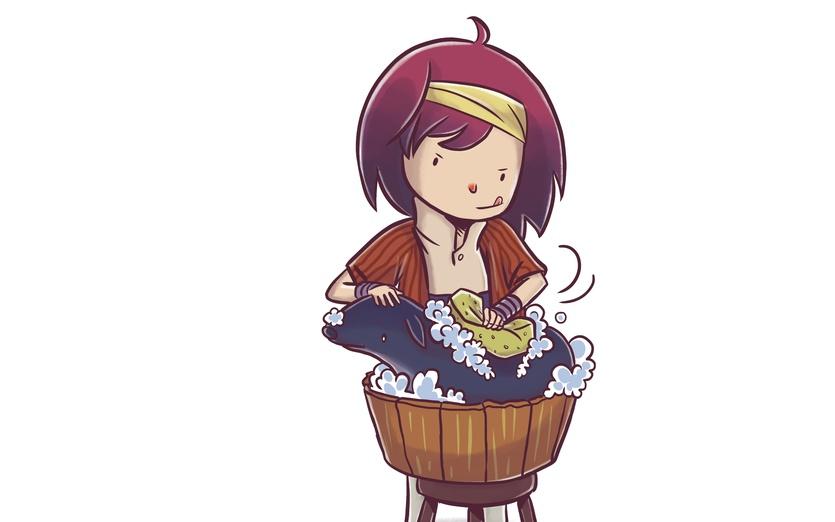 - adorable, adventure, animal, blue, brown, cartoon, cartoony