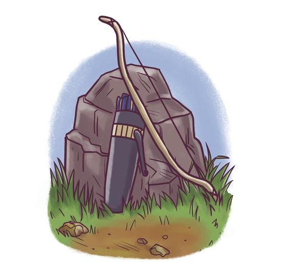 - adventure, archery, blue, brightcolored, brightcolors, brown, cartoon