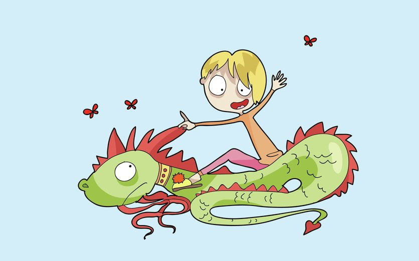 There are days you need to learn to ride your dragon... - cure, dragon, fairytale, funny, girl, magic, tale