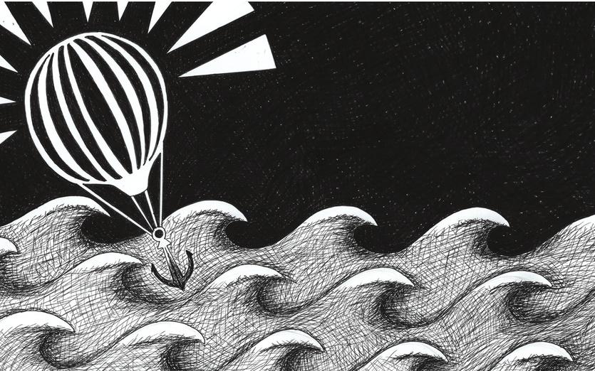 - anchor, balloon, black, dark, detail, detailed, float