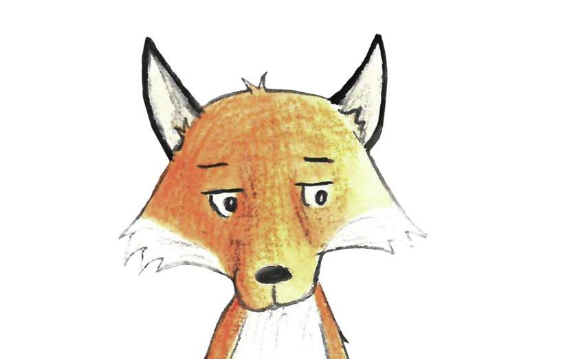 - animals, fox, watercolor