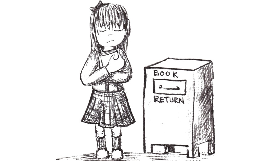 - book, bookworm, bow, box, fantasy, girl, hair