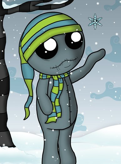 - creature, doll, monster, skull, snow, snowflake, unluckables
