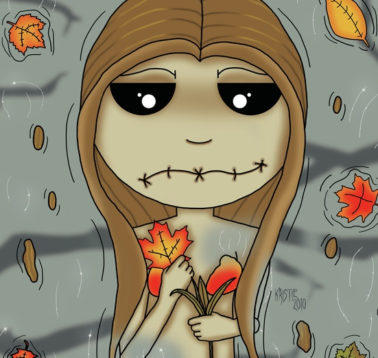 - autumn, beige, black, character, colored, darkness, digitalart