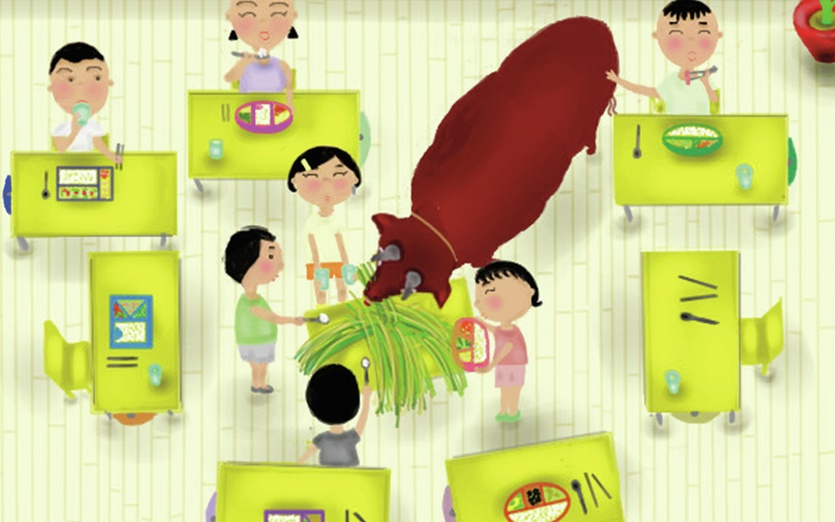 - animal, asian, brown, children, classroom, colored, colorful