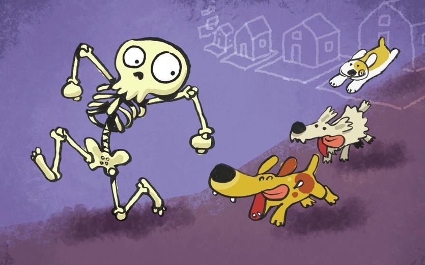 - adorable, animals, bedstory, bones, cartoon, cartoony, colored
