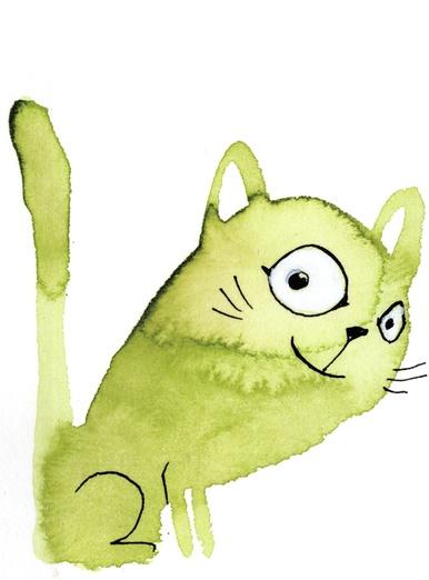 - adorable, animal, aw, cartoon, cat, content, cute