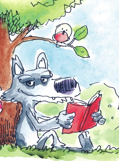 wolf reading