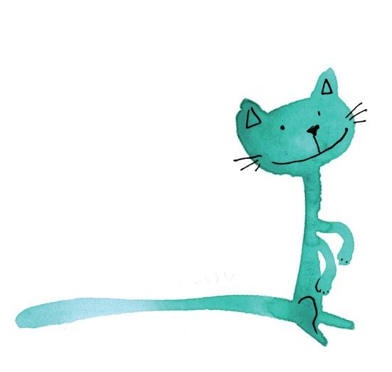 - adorable, animal, aw, black, blue, cartoon, cat