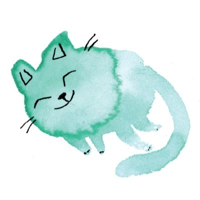 watercolor cat_010 purr