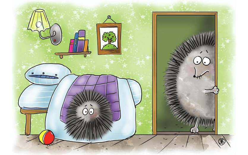 - animals, bedroom, funny, games, hedgehog, house, kids