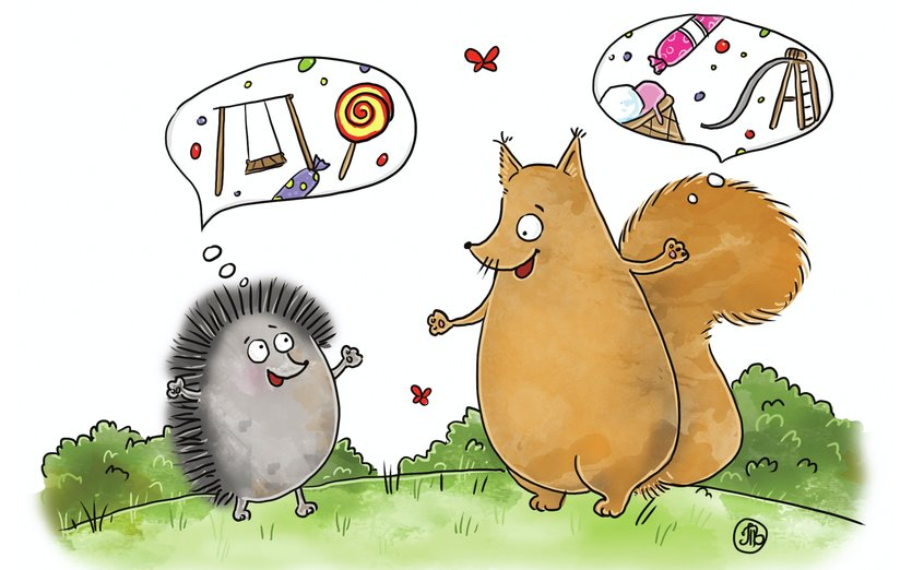 - animals, candy, funny, games, hedgehog, house, kids