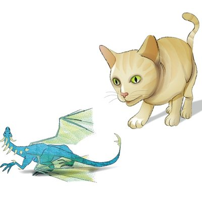 Cat and Dragon