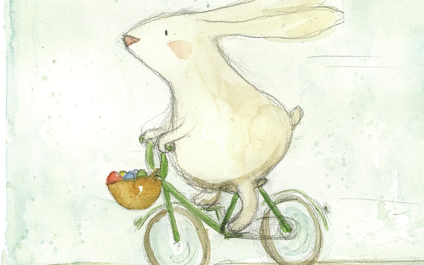 - adorable, animal, basket, beige, bicycle, bike, blue