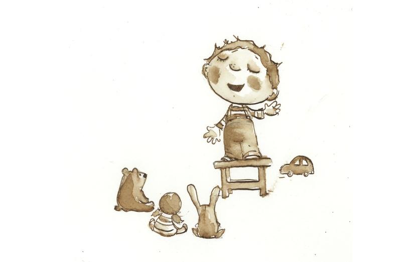 - bear, beige, black, boy, bunny, car, chair