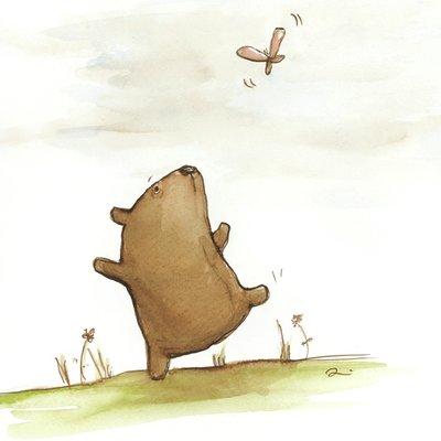 Bear & butterfly