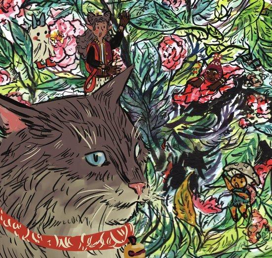 - cat, creatures, fairies, fantasy, flowers, friends, girl