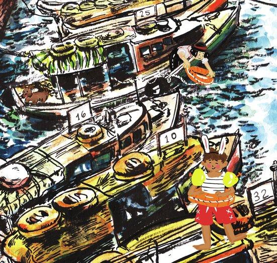 - adventure, boat, boating, boy, children, float, girl
