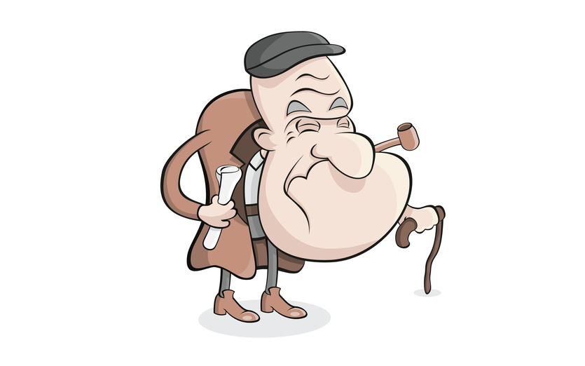 Cartoon Characters Old Man : Old man by jevs illustration on storybird