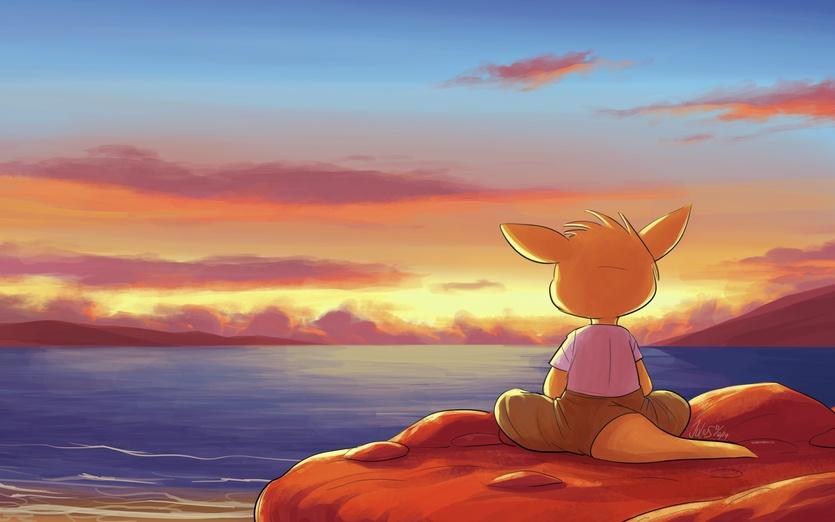 pin house cartoon sunset - photo #21