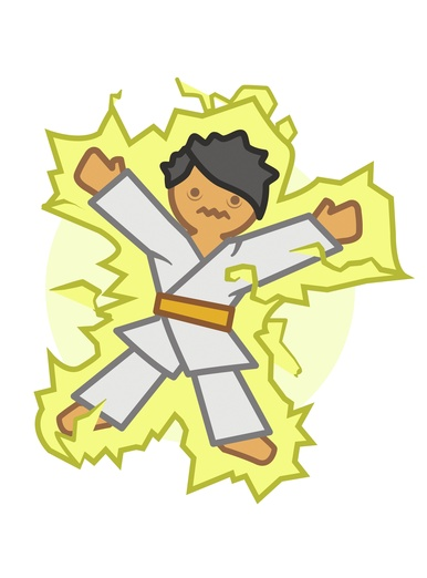 Judoka electrified