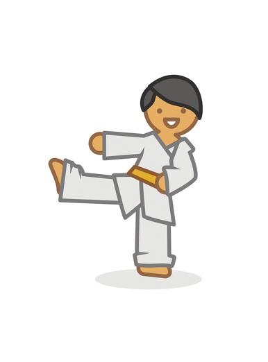 Judoka low kick