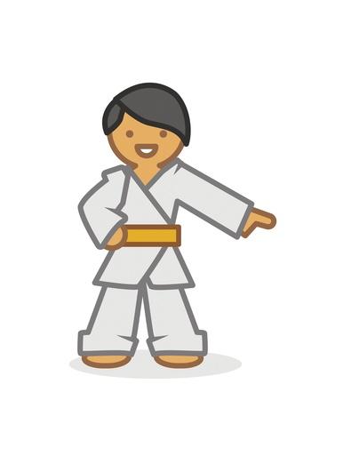 Judoka pointing 2