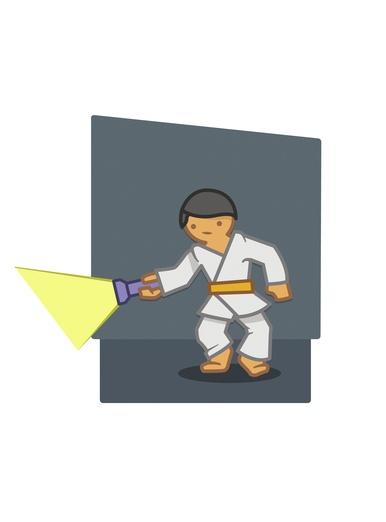 Judoka torch background