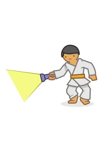Judoka torch
