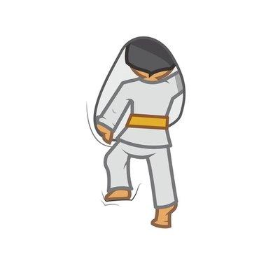 Judoka climbing