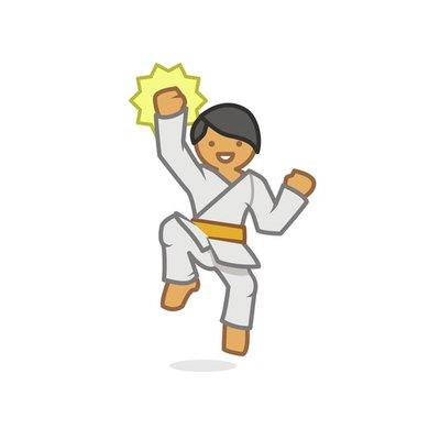 Judoka jumping