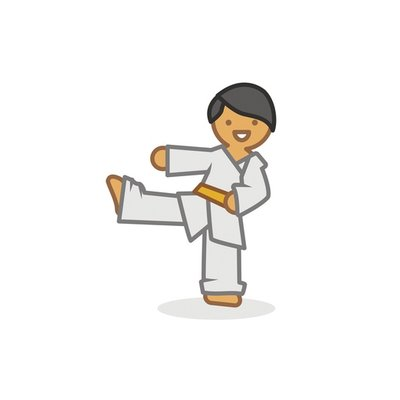 Judoka low kick